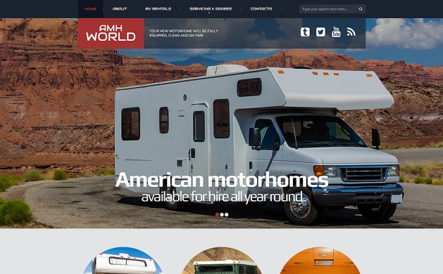 Motor Homes & RVs Responsive Website Template